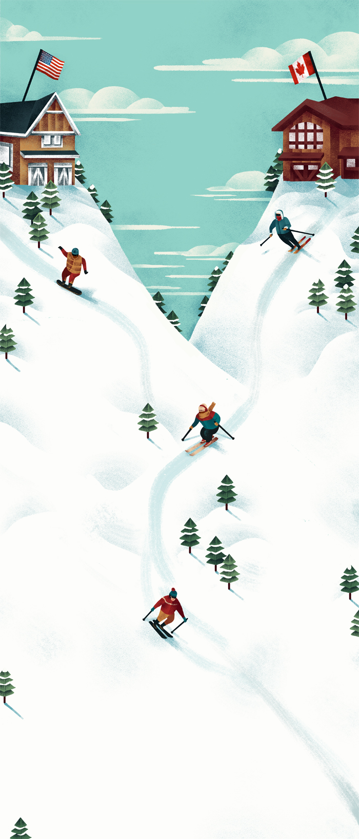 Jeannie-Phan-Illustration-National-Post-Ski-Resort